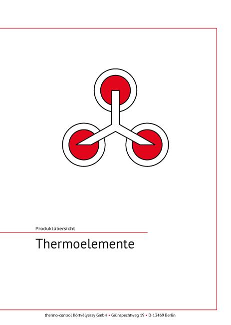 Cover Katalog Thermoelemente