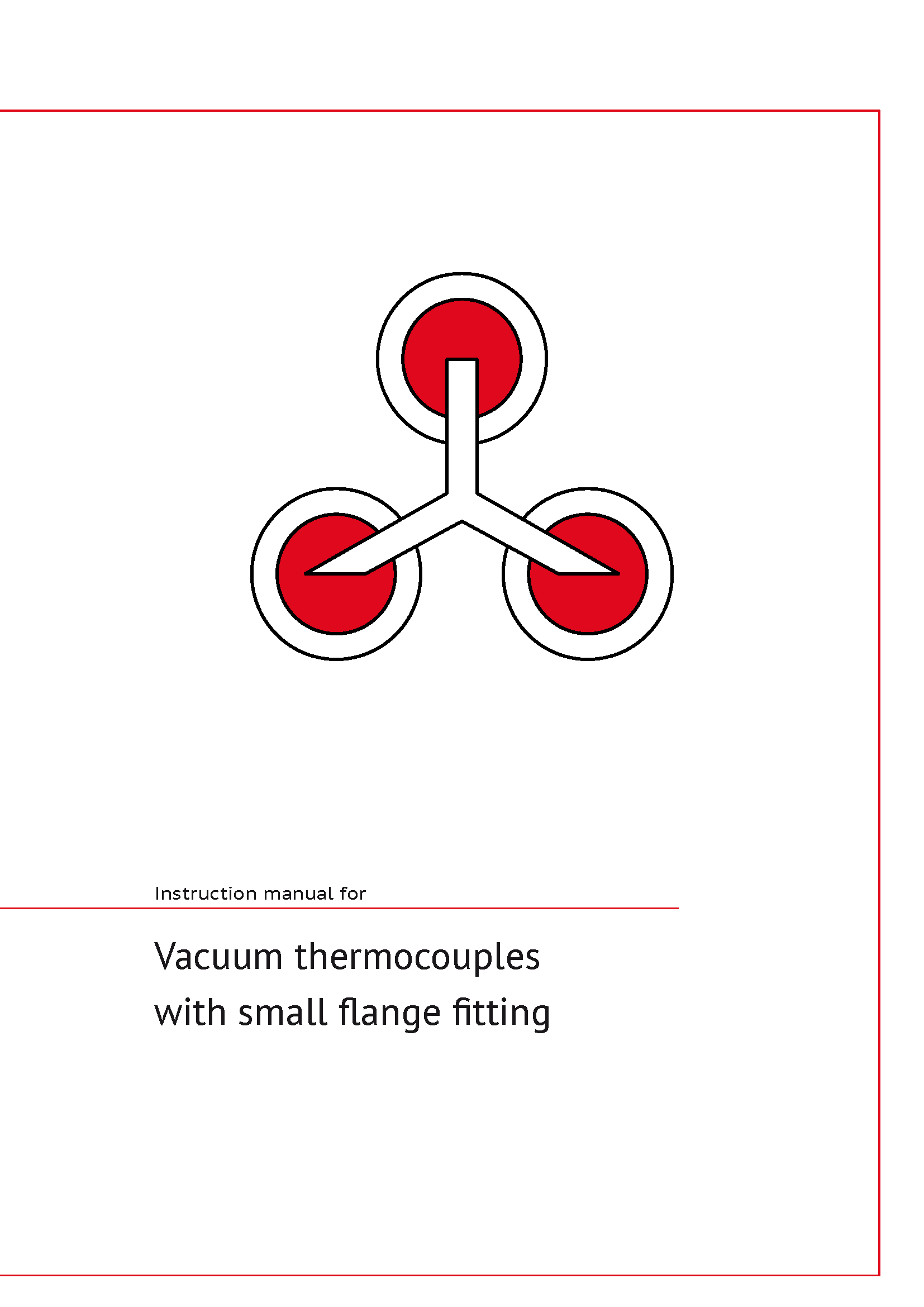 Manual for Vacuum-Thermocouples with small flange fitting