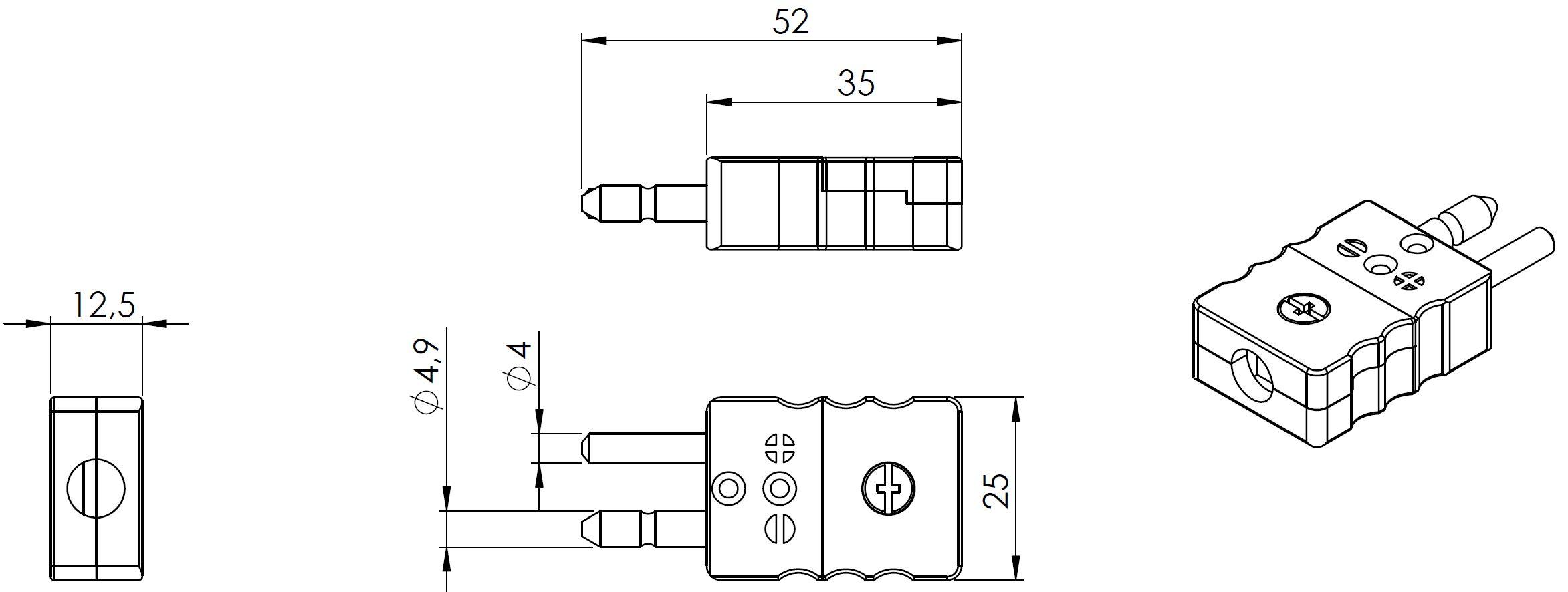 Zeichnung Standardstecker